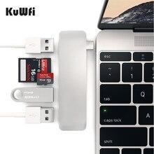 KuWfi USB 3.0 Metall kartenleser 3 in 1 OTG Kartenleser USB Typ C Micro USB Combo TF Micro SD Kartenleser für Laptop PC & Handy