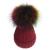 Mulheres moda Cap Bola Pompom Gorros De Malha Chapéu Do Inverno da Pele Do Falso das Mulheres Quente Crochê Pom Pom Chapéus 9 Cores