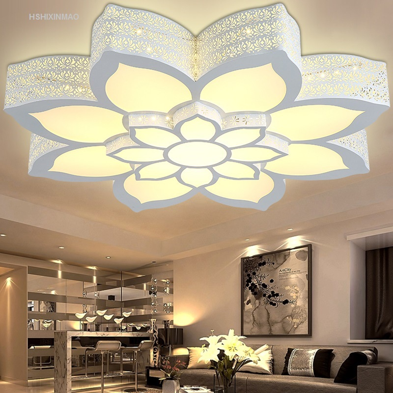 Led lotus flower shape ceiling lamp living room bedroom - Plafones de techo led ...