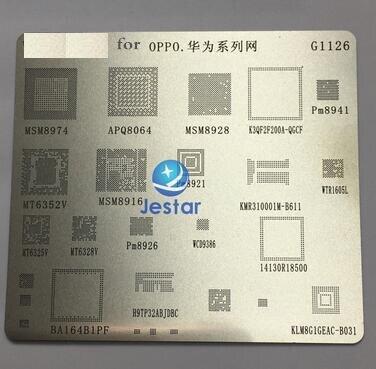 2 pcs/lot BGA rebillage reball pochoir pour MSM8974 APQ8064 MSM8928 PM8941 MT6352V MSM8916 PM8921 B611 WTR1605L MT6325V