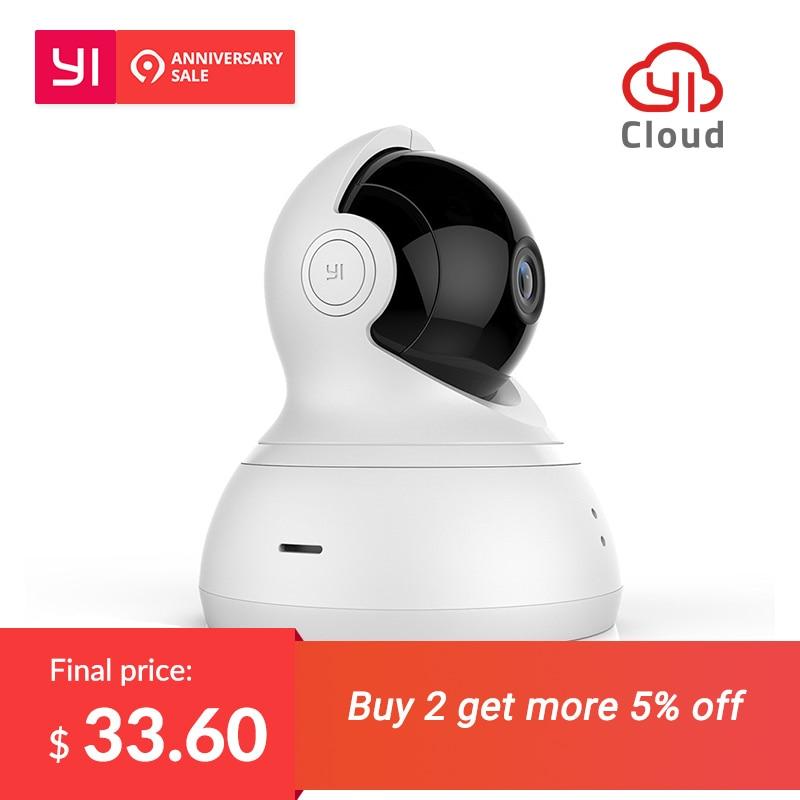 YI Dome 720 P камера дома Cam Wi Fi 360 градусов ночное видение панорамирования/наклона/зум беспроводной IP безопасности системы скрытого видеонаблюде...