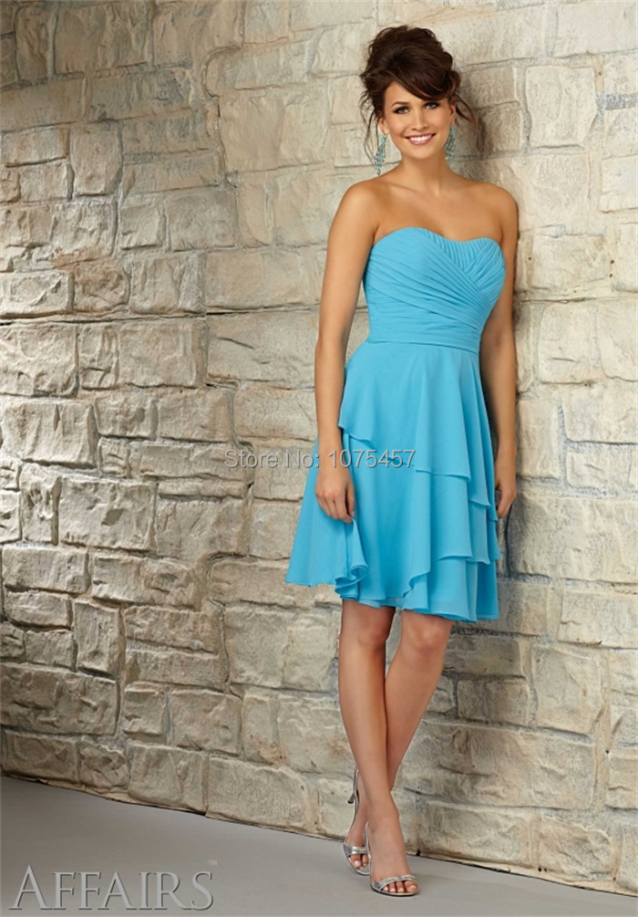 New Arrival Baby Blue Bridesmaid Dress Made In China 2017 Sweetheart For Party Chiffon Vestido De Festa Longo Mb842 Dresses From