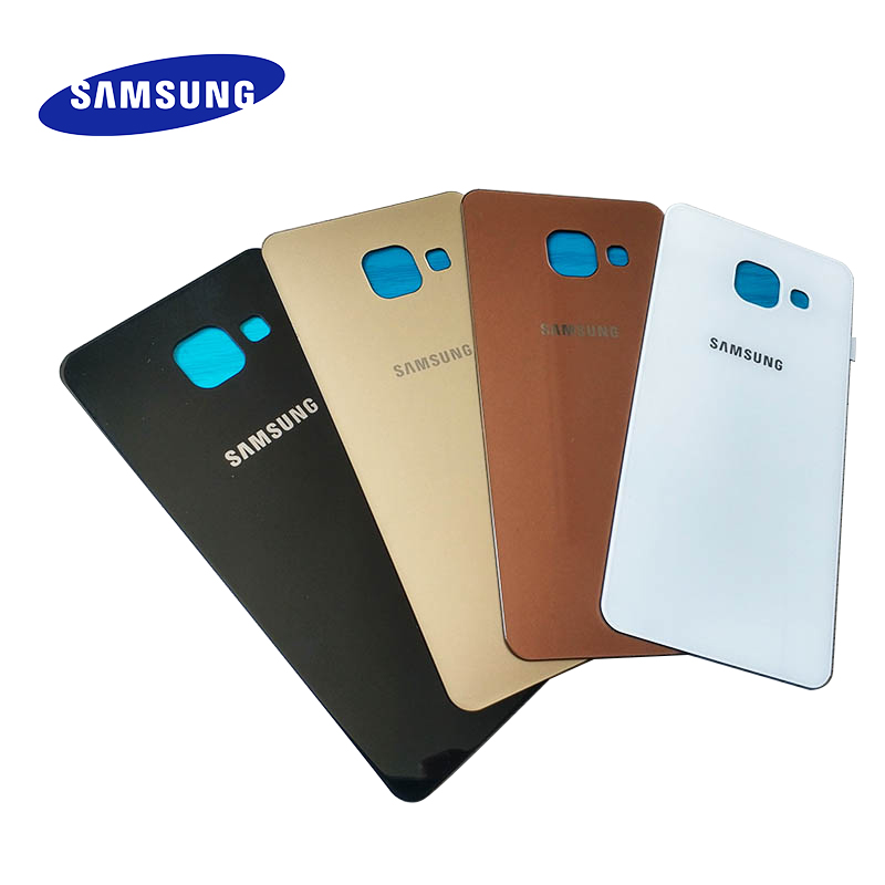 Original Samsung Galaxy A3 2016 A310F Cover Back Battery Cover Glass Rear Door Housing Case Replacement For Galaxy A310 SM-A310F