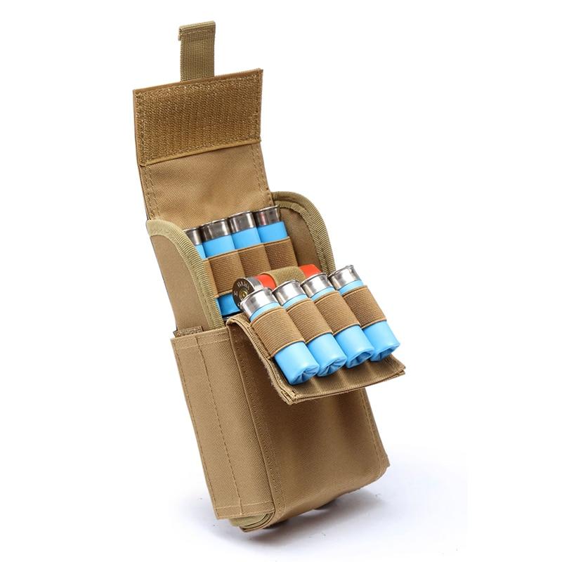 Spor ve Eğlence'ten Torbalar'de Avcılık cephane çanta Molle 25 yuvarlak 12GA 12 ölçer cephane kabukları Shotgun Reload dergisi torbalar yeni varış title=