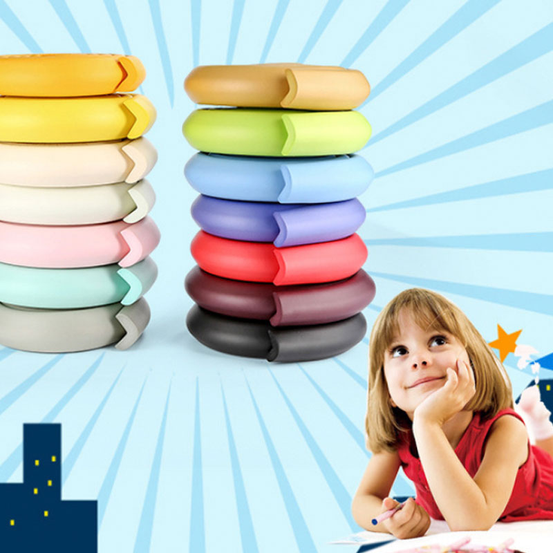 2M Length Baby Striped Safety Bumper Strip Thickened Protective Strip Table Corner Protection Child Protection Products