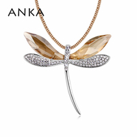 2018 New Arrival Collar Fashion Jewelry Dragonfly Long Necklace For Women Crystals from Austria 2 Color Choose #101798