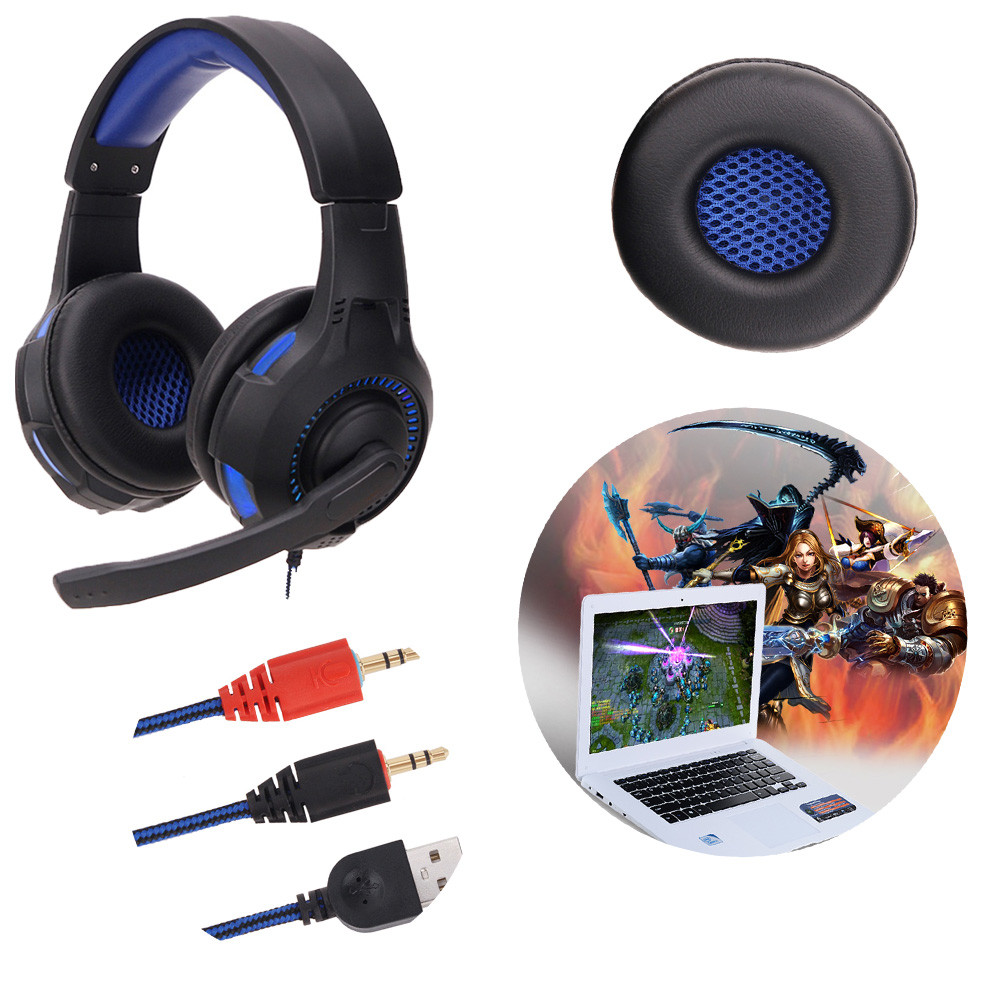 Usb 3 5mm Jack Gaming Headset Surround Stereo Over Ear