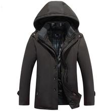 New Arrival 2017 Men Casual Parka Turn-down Collar Slim Fit Fashion Winter Warm Mens Down Jackets Hooded Chaqueta Hombre Inviern