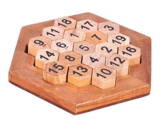 Aristotle's Number Puzzle Classic IQ Brain teaser Logic Wooden Puzzles Game Math Toys for Adults Children
