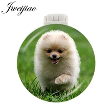 JWEIJIAO westie Beagle pug pom springer dashhound Pocket Mirror With Massage Comb Folding Portable Makeup Hand Vanity Mirrors