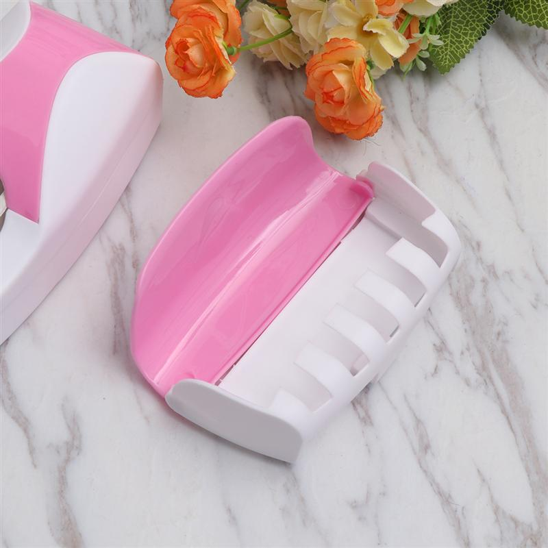 Image 5 - 2Pcs Wall Mounted Toothbrush Holder Manual Toothpaste Extruder Suction Toothbrush Hanger Toothpaste Squeezer For Bathroom-in Toothbrush & Toothpaste Holders from Home & Garden