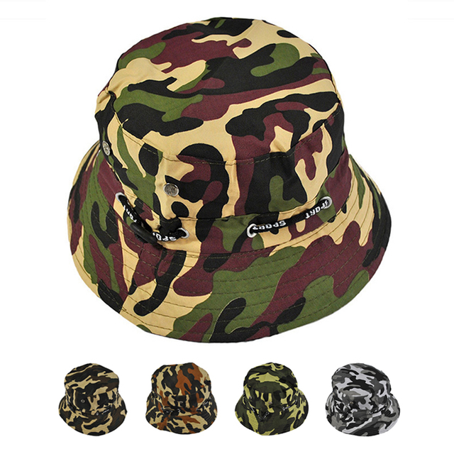 0e72a6d41ef60 Military Hats Men s Fishing caps Tourism Holiday Parasol Camouflage  Breathable Hat Jungle Camouflage cap Free Shipping