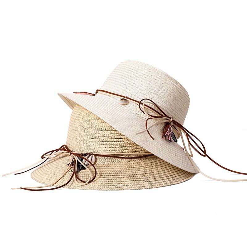 b8916bd957d73 2019 Nova Moda das Mulheres Chapéus de Sol de Verão Cap Trigo Panamá Chapéus  de Verão