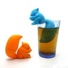 Cute Cartoon Squirrel Tea Strainer loose-leaf Silicone Tea Infuser Filter Diffuser Tea Tools
