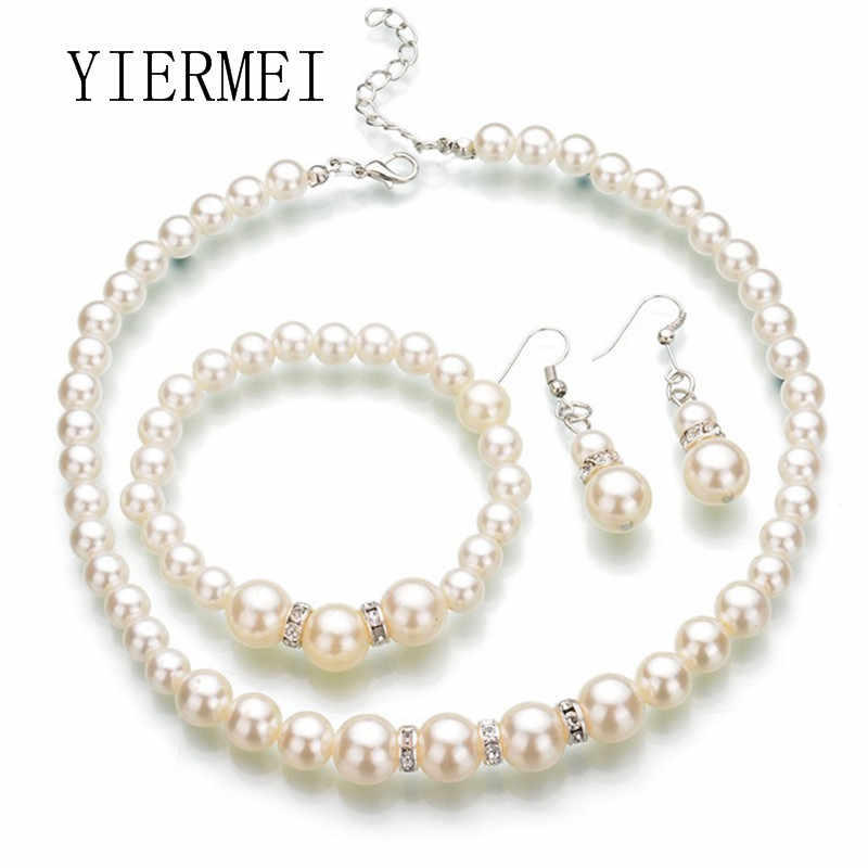Hot Fashion Fashion Europe and the United States classic imitation pearl necklace bride jewelry Korean fine handmade beaded jewe