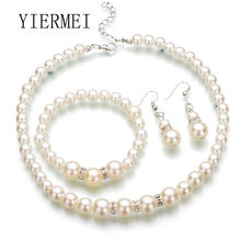 Hot Fashion Fashion Europe and the United States classic imitation pearl necklace bride jewelry Korean fine handmade beaded jewe(China)