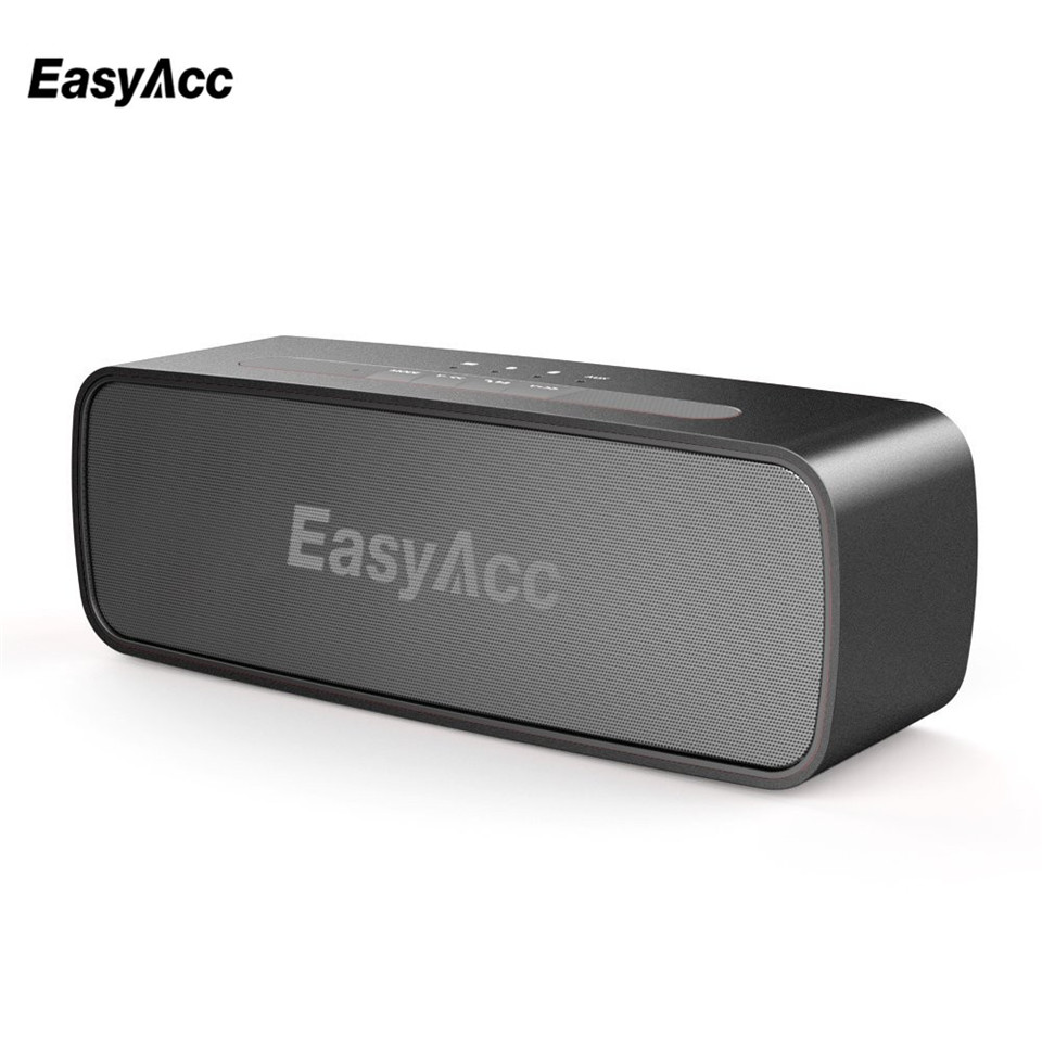 Easyacc 10 w power bluetooth 4.0 alto-falante sem fio portátil à prova dwaterproof água 3.5mm aux micro suporte para cartão sd para a maioria do telefone