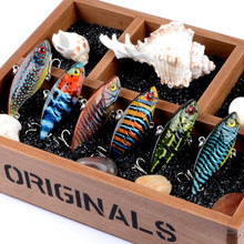 1Pcs 6.5cm/10.6g Full Swimming Layer VIB Vibrate Sea Fishing Baits Lure 3D Painting Wobbler Crankbait Artificial Hard Isca