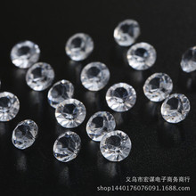 New 200pcs 10mm Acrylic Clear Diamond Confetti Table Scatters Decoration Wedding Decoration