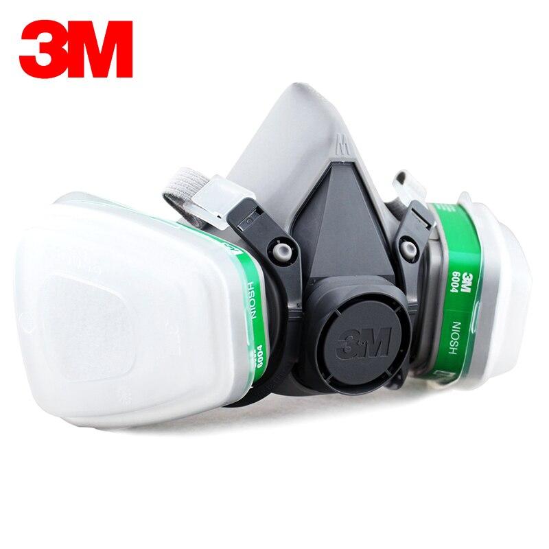 3 M 6200 + 6004 réutilisable demi masque respiratoire ammoniaque méthylamine cartouche de vapeur organique NIOSH & LA Standard LT048 - 3