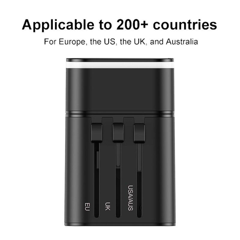 Image 5 - Baseus Quick Charge 3,0 международное Зарядное устройство USB адаптер питания PD QC3.0 Быстрая зарядка настенная розетка для Великобритании/ЕС/Австралии/СШАМеждународный адаптер для розетки   -