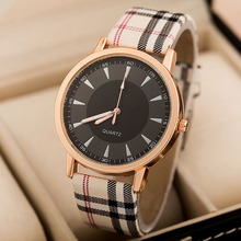 New Fashion Grid Leather Strap Watch Quartz Watches Women Casual Watches Ladies Wristwatch Women Dress Watches reloj mujer saat