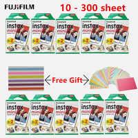10 - 300 sheets Fujifilm Instax camera White Mini Film Instant Photo Paper For Instax Mini 8 9 7s 9 70 25 50s 90 SP-1 2 Camera