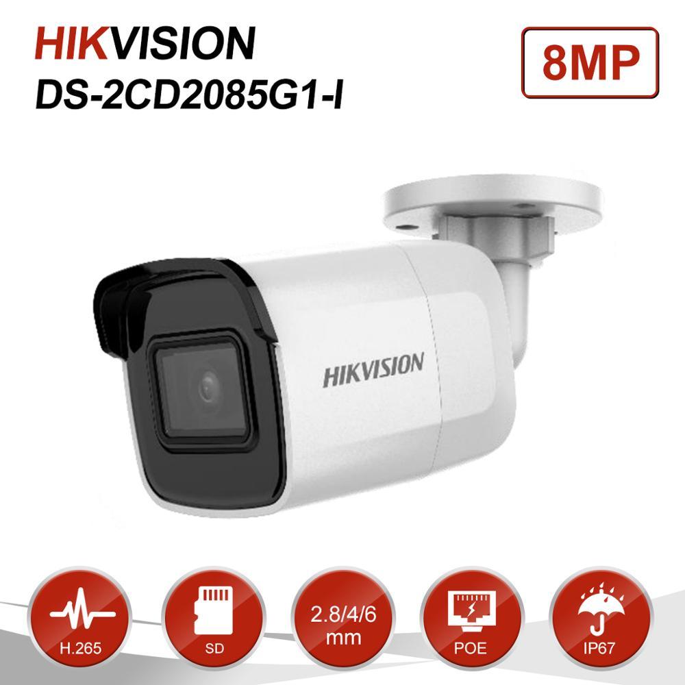 Hikvision 8MP (4 K) fixo IR Bala HD Câmera IP PoE Onvif H.265 Home/Ao Ar Livre Câmera de Vídeo CCTV Segurança Vigilância Night Vision