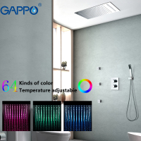 GAPPO Shower Faucets bathroom waterfall shower mixers bath mixer tap LED rainfall shower set chuveiro do banheiro