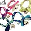 5pcs Pack Rubber Hair Band Colour Matching Twist Braid Pearl Pendant Fashion Girl Ribbon Bands Headwear