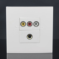 Wall Face Plate RCA AV + 6.5mm Microphone Jack Socket Assorted Panel Faceplate
