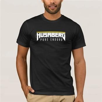 Camiseta HUSABERG enduro de algodón, camiseta negra nueva y popular, S-3XL