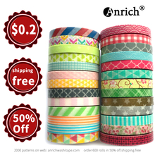 Free Shipping washi tape,Anrich washi tape 26 patterns as a Lot in 6mm x 5m,customizable,washi paper tape,26 rolls #34301-34326(China)