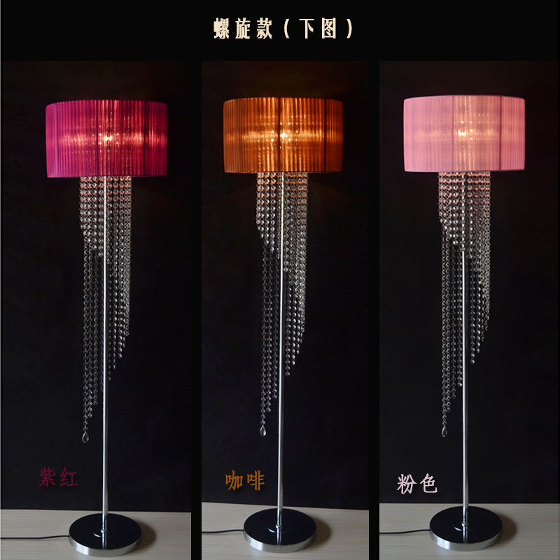 The American crystal lamp room bedroom bedside lamp vertical simple modern creative lamps SJ85