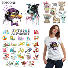 ZOTOONE Ink Monkey Iron on Transfer Patches Stripes on Clothing Diy Patch Heat Transfer for Clothes Decoration Stickers Gift G цена