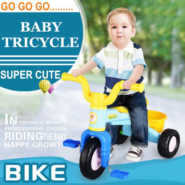 New Ride On Bikes Kids Tricycle Baby Walkers Bicycle 50KG Bearing Capacity Children's Safety Control Bicycles Toys Outdoor