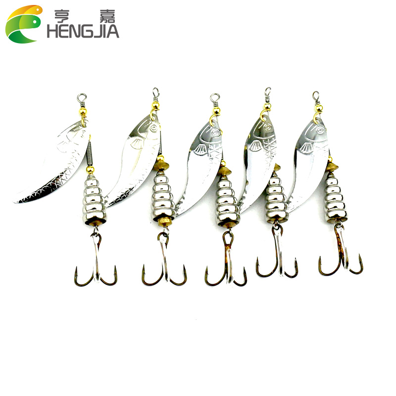 Sports & Entertainment Generous 10pcs/lot Silver Metal Spoon Lures Salmon Bass Lures Sequin Treble Hook Spinner Artificial Bait Fishing Tackle Accessories Regular Tea Drinking Improves Your Health