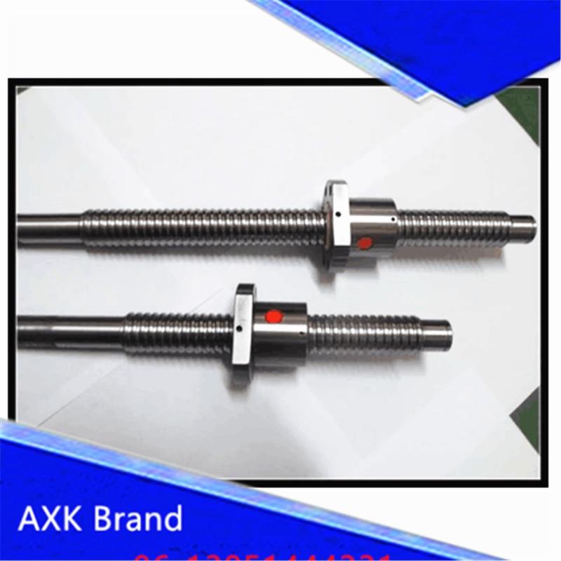 ФОТО Anti Backlash RM2510  Ball Screw SFU2510 L= 1000mm Rolled 2510 Ballscrew + one ball nut