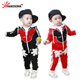 Retail Boys Cartoon Mouse Clothing Set Fashion Single Breasted Hoodie + Pants 2 pieces Spring Fall Children Clothing Suit