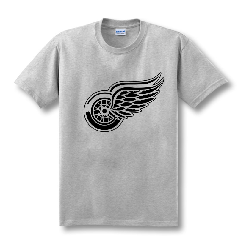 New Detroit Red Wings T-shirt bomuld Store og store logo Mode Wings - Herretøj - Foto 3