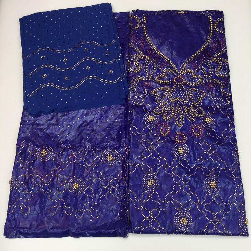 African lace fabric high quality bazin riche getzner 2019 New indian bridal fabric guinea brocade with