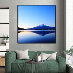 Image 4 - Cuadro de Arte de lienzo pintura al óleo moderna decoración del hogar Fuji paisaje de montaña póster e impresiones pasillo de hotel Impresión de marco de arte mural