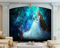 Beibehang Custom 3D Photo Wallpaper Fantasy Fairyland Fairy Oil Painting Papel De Parede Para Quarto Wall