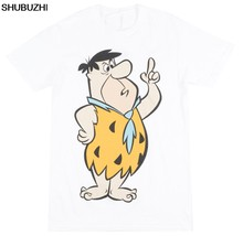 The Flintstones Fred Flintstone T-Shirt Hanna Barbera Mens White tshirt new hip hop fashion top free shipping shubuzhi officia(China)
