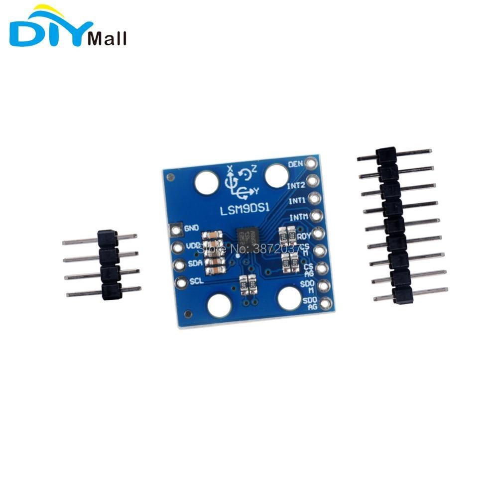 LSM9DS1 9DoF IMU Precision SPI I2C Breakout Accelerometer font b Sensor b font Magnetometer Gyroscope Module