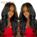 ACE GODDESS Indian Virgin Hair Body Wave 3 Bundles 7A Unprocessed Virgin Indian Hair Bundles Remy Human Hair Weave Bundles