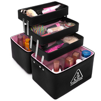 Free Shipping Cosmetic Case Multifunctional Large Portable Cosmetics Large Capacity Multi Layer Professional Cosmetic Box