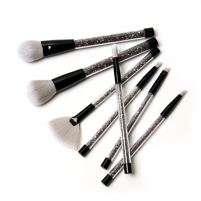 7 Piece Black Diamond Makeup Brush Set