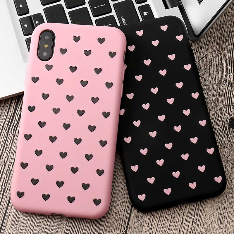 "Liefde Hart Soft Tpu Case Voor Iphone X Xs Max Xr 6 6S 5 5S Se 7 8 plus Case Cover Voor Iphone 11 Pro Max 6.5 ""Cover Coque Fundas"