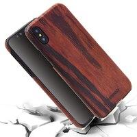 Lo nuevo Showkoo Caso De Madera Natural Para el iphone X Con Fibra De Kevlar delgada de la Cubierta Del Teléfono De Madera Para el iphone X 5.8 Cubierta de la CAJA trasera